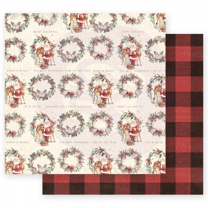 Prima Marketing Christmas In The Country 12x12 Inch Sheets Most Wonderful Time of the Year 10 sts