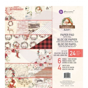 Prima Marketing Christmas In The Country 12x12 Inch Paper Pad