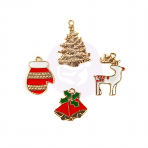 Prima Marketing Christmas In The Country Enamel Charms