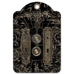 Graphic 45 Metal Door Plates & Knobs