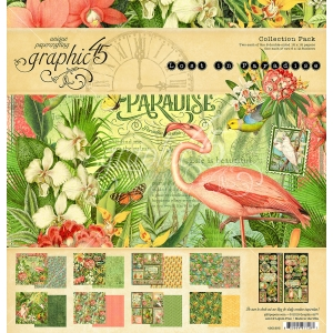 Graphic 45 Lost in Paradise 12x12 Inch Collection Pack