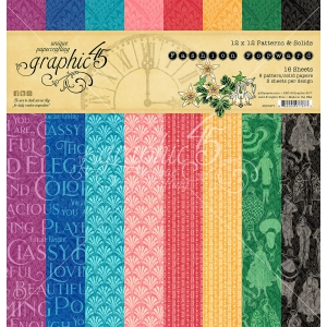 Graphic 45 Fashion Forward 12x12 Inch Patterns & Solid Paper Pad
