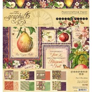 Graphic 45 Fruit & Flora 8x8 Inch Paper Pad