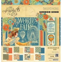Graphic 45 World's Fair 12x12 Inch Paper Pad