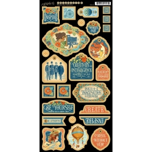 Graphic 45World's Fair Decorative Chipboard 2