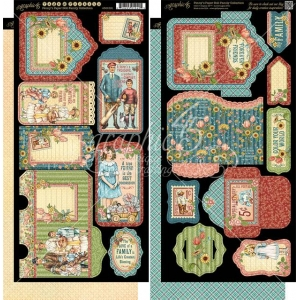 Graphic 45 Penny's Paper Doll Family Tags & Pockets