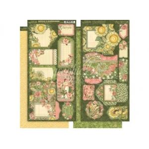 Graphic 45 Garden Goddess Tags & Pockets