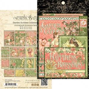 Graphic 45 Garden Goddess Journaling & Ephemera Cards