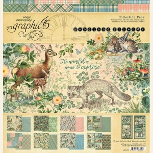 Graphic 45 Woodland Friends 12 x 12 Collection Pack