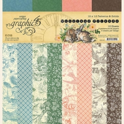 Graphic 45 Woodland Friends 12 x 12 patterns & Solids Pad