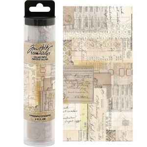 Idea-ology Tim Holtz Collage Paper Typography (6yards)