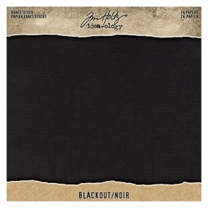 Idea-ology Tim Holtz Kraft-Stock 8x8 Inch Paper Stash Blackout