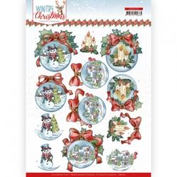3D Knipvel - Yvonne Creations - Wintry Christmas - Christmas Baubles