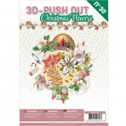 Boek 3D uitdruk vellen Christmas Flowers
