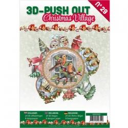 Boek 3D uitdruk vellen Christmas Village
