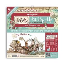 Stamperia Pop Up Kit 12x12 Inch Alice Tea Party