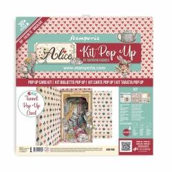 Stamperia Pop Up Kit 12x12 Inch Alice Wonderland Tunnel