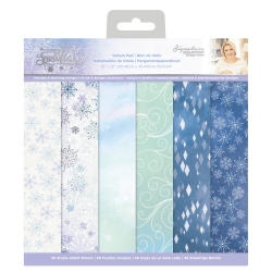 Crafter's Companion Glittering Snowflakes 12x12 Inch Paper Pad