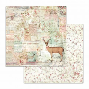 Stamperia Pink Christmas Deer 12x12 Inch Paper Sheets (10pcs)