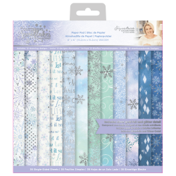 Crafter's Companion Glittering Snowflakes 6x6 Inch Paper Pad