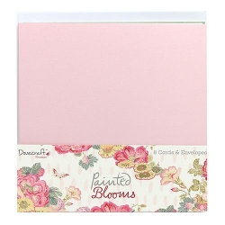 Dovecraft  Painted Blooms 6x6 inch Cards and envelopes