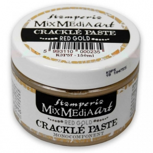 Stamperia Crackle Paste 150 ml Red Gold