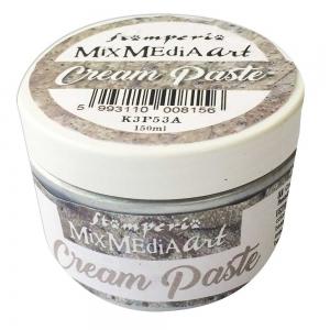 Stamperia Cream Paste Metallic Silver