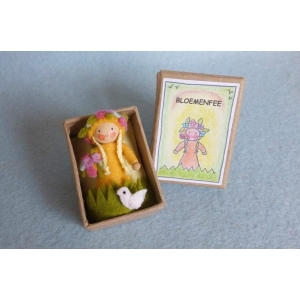 Vilt-Bloemenfee in een doosje