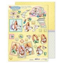 Marij Rahder Mouse Party! 3D Die Cut Sheet & Potpourri Sheet