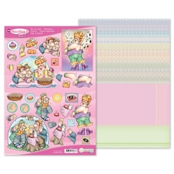 Marij Rahder Miss Mini & Friends 3D Die Cut Sheet & potpouri Sheet