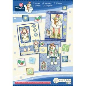 Marij Rahder Winter 3 3D Cards A5 (3 cards)