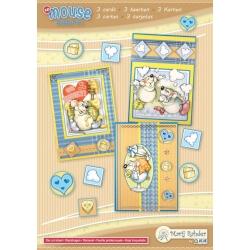 Marij Rahder Mouse Party! 1 3D Cards A5 (3 cards)