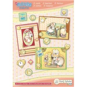 Marij Rahder Mouse Party! 3 3D Cards A5 (3 cards)