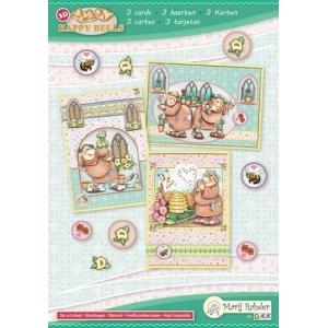 Marij Rahder Happy Bells A5 Complete Card Set
