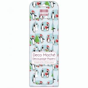 First Edition FSC Deco Mache Penguins