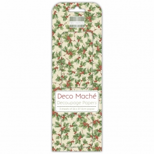 First Edition Christmas Deco Mache - Holly