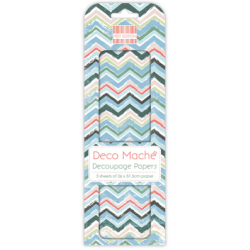 First Edition Deco Mache Tropical Chevron