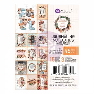 Prima Marketing Pumpkin & Spice 3x4 Inch Journaling Cards