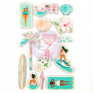 Prima Marketing Surfboard Wood Stickers