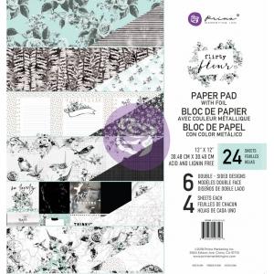 Prima Marketing Flirty Fleur 12x12 Inch Paper Pad