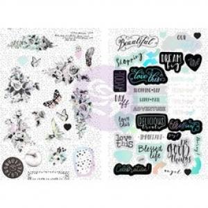 Prima Marketing Flirty Fleur Chipboard Stickers