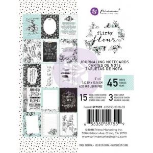 Prima Marketing Flirty Fleur 3x4 Inch Journaling Cards