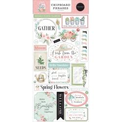 Carta Bella Flower Garden Chipboard Phrases