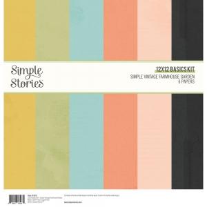 Simple Stories Simple Vintage Farmhouse Garden12x12 Inch Basics Kit