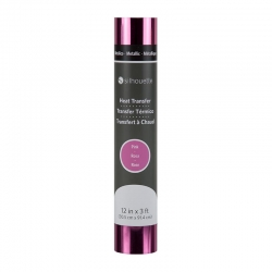"Silhouette metallic flex - roze - 12"" (30,5cm x 90cm)"