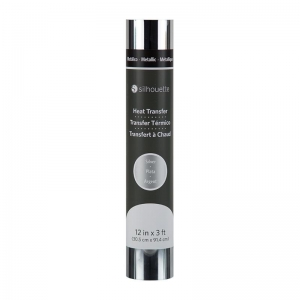 "Silhouette metallic flex - zilver - 12"" (30,5cm x 90cm)"