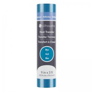 """Silhouette reflecterend flex - blauw - 9"""" (22,9cm x 91,4cm)"""
