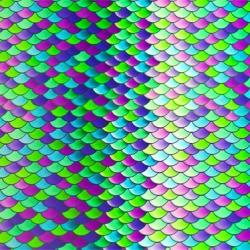Easy Patterns - Mermaid scales teal