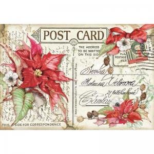 Stamperia Rice Paper 48x33cm Poinsettia