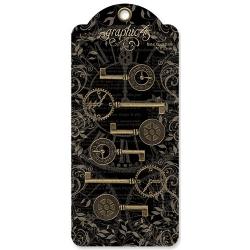 Graphic 45 Metal Clock Keys